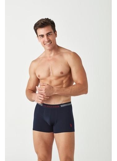 U.S. Polo Assn. Erkek 2 Li Boxer Lacivert